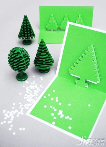 小学生卡纸手工制作图片大全 圣诞节立体贺卡