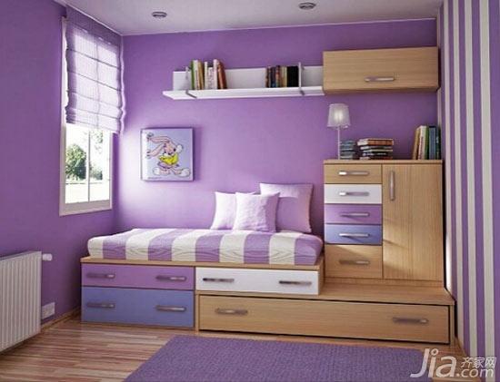 浅紫色的公主房设计 轻盈浪漫不失童趣